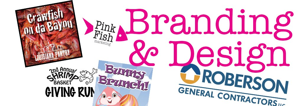Corporate Branding, Graphic Design, Logo Identity, Pink Fish Marketing, Think Pink Fish, Gulf Shores AL, Orange Beach AL, Foley AL, Daphne AL, Fairhope AL, Social Media Marketing, Social Management, Small Business, Agency, Advertising, Web Design,